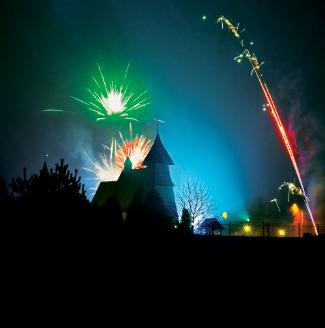 Kościół w Palowicach 01.01.2014, fot. Łukasz Malcharek